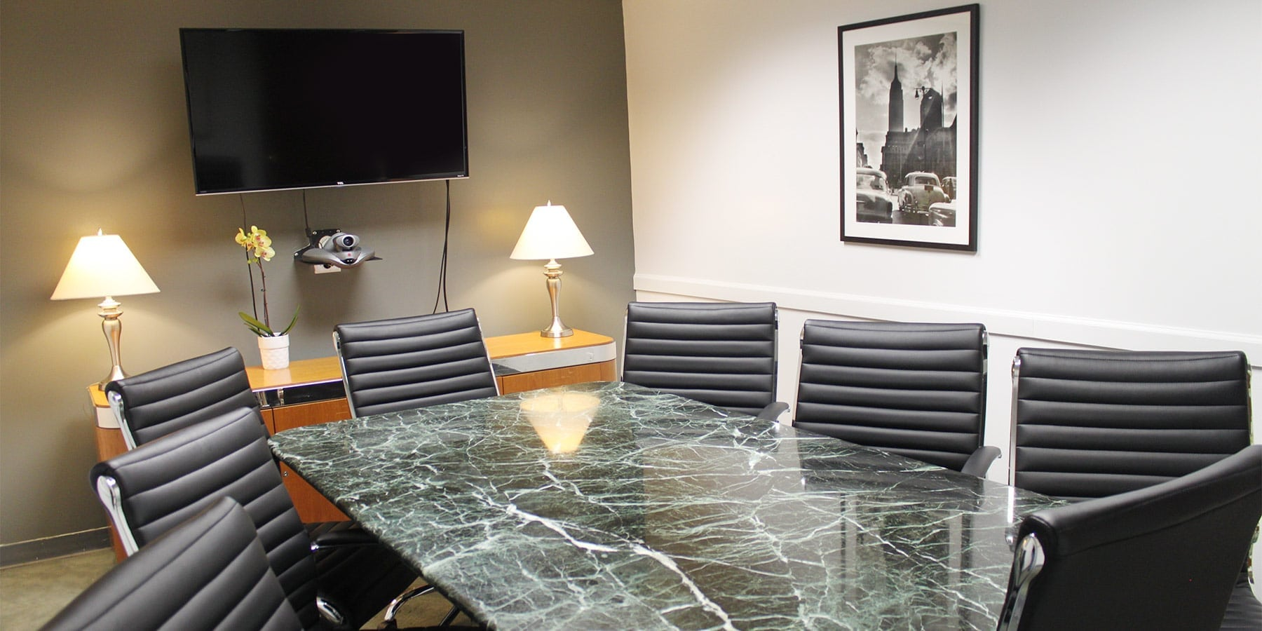 Marble tabled conference room